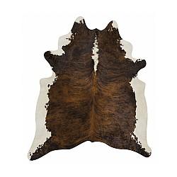 Govs ādas paklājs BROWN maxi 3-4m2, 200x210cm, brūna - balts